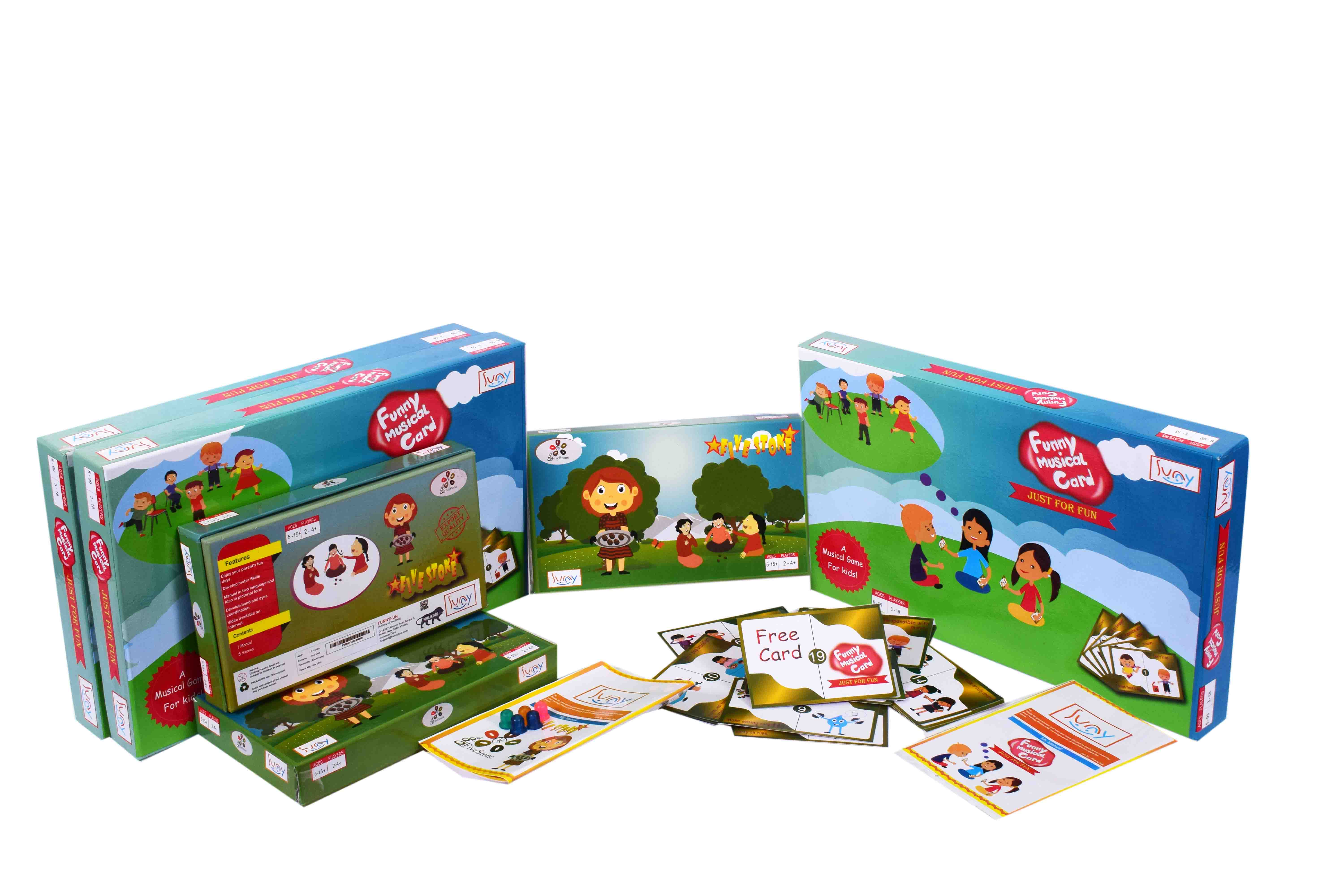 Funny Musical Card (Musical Chair) Family, Great Combo with 5 Stone Old  Ancient Indian, New Board Game Export Quality Travel & Party pack